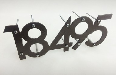 home address cnc routed