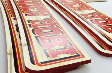 flat bed printed retail signs