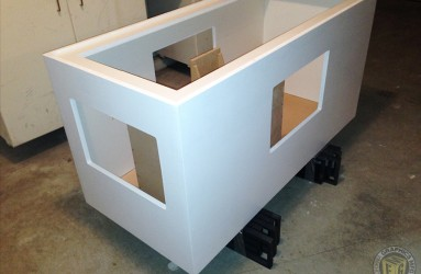 TV case for retail unit