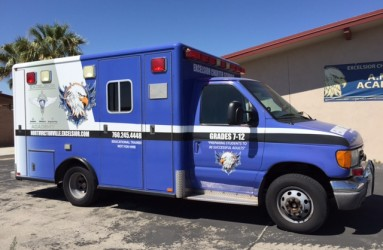 full vinyl wrap on ambulance