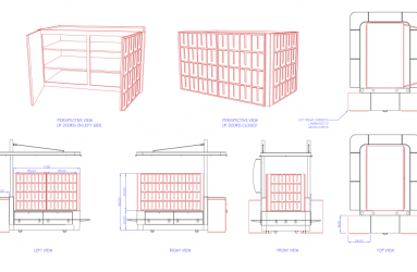 Auto CAD drawing for retail unit